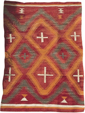 Navajo rug white crosses