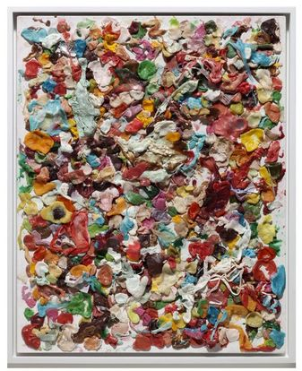 Dan Colen, Untitled (2008). Painting made of used gum.