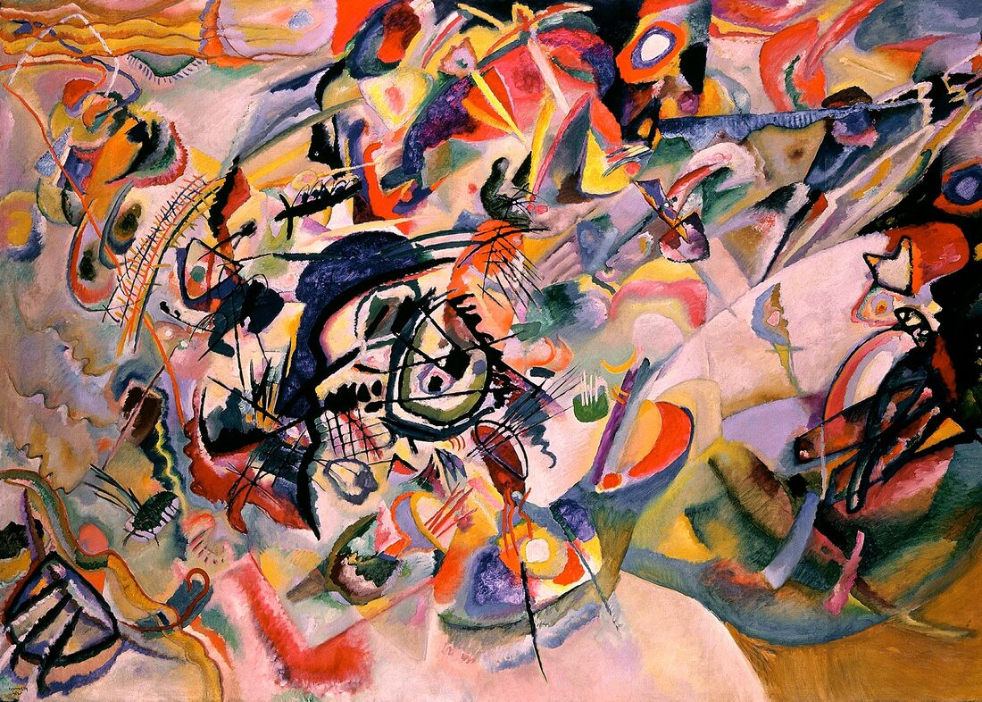 Abstract painting: Vasily Kandinsky, Composition VII, 1913, Tretyakov Gallery, Moscow